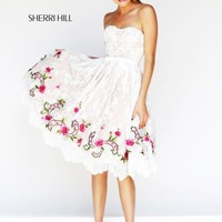 Sherri Hill Short Homecoming Dress 21229 at Peaches Boutique
