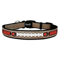 Cleveland Browns Reflective Medium Football Collar,Medium,Silver