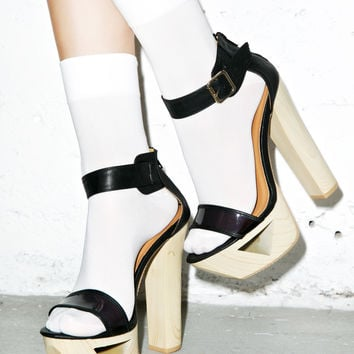 Qupid Luscious Lakie Heels Black