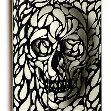 ArteHouse Black & White Skull Wall Art | zulily