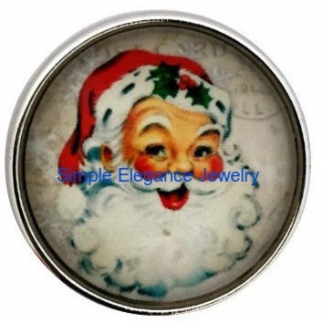 Old World Christmas Santa 20mm for Snap Jewelry