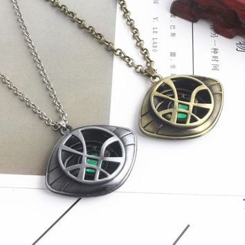 20PC marvel Avengers Doctor Strange Eye of Agamotto Charm Necklace Pendant  jewelry  Infinity War Steampunk Talisman