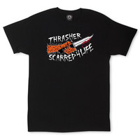 Thrasher Scarred T-Shirt In Black