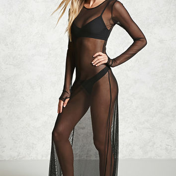 Netted Mesh Swim Cover-Up