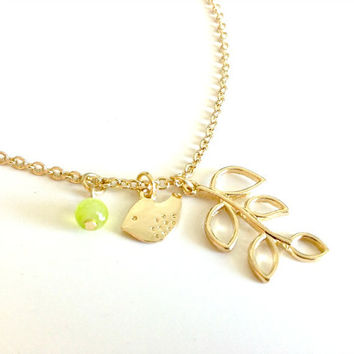 Springtime Birdie Necklace