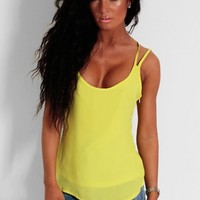 Daiquri Lime Green Crossover Swing Vest | Pink Boutique