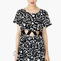 NG X Lazy Oaf Scribble Cutout Dress