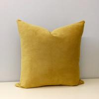 Mustard Velvet Throw Pillows, Mustard Pillows, Velvet Pillows, Velvet Pillow, Yellow Velvet Cushion Covers, Mustard Yellow Throw Pillows
