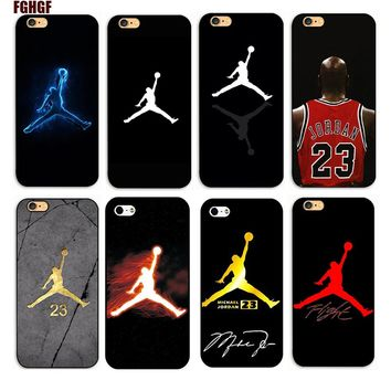 (Michael Jordan) Logo Phone Case for iphone 4S 5S 5c 6S plus 7 7plus 8 8plus x