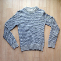 Polka Dot Vintage Wool Sweater / Small / 34 36