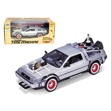 """Delorean From Movie \Back To The Future 3\"""" 1/24 Diecast Car by Welly"""""""