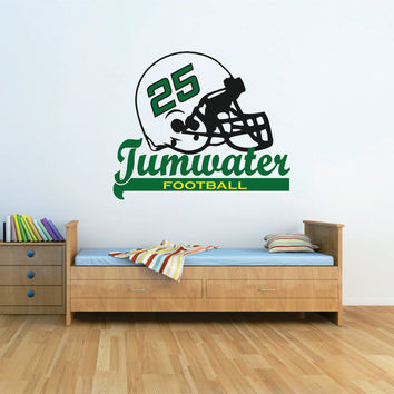 Football Wall Decal, Football Team Decal, Football Nursery, Personalized Football Decal, Football Decor, Football Helmet Decal
