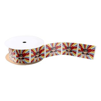Superhero Comic Book Theme for Boys SUPER KID! Satin Ribbon