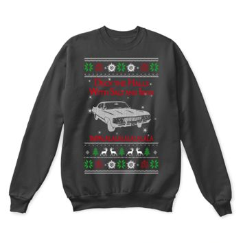 DCCKON7 Deck The Halls Chevy Impalalalala Supernatural Ugly Christmas Sweater