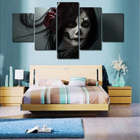 Hot Framed Printed Skull Girl HD movie Painting on canvas room decoration print poster picture canvas