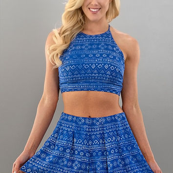 Two Piece Romper - Blue