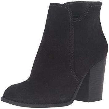 Jessica Simpson Womens Sadora Suede Stacked Heel Ankle Boots