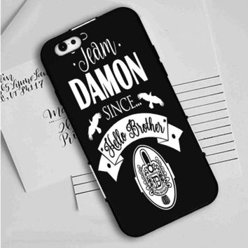 Team Damon Since Hello Brother The Vampire Diaries iPhone Case