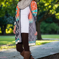Peace Of Mind Cardigan, Orange