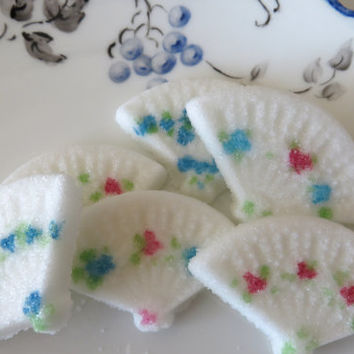 Elegant Painted Fan Shaped Sugar Cubes 3 Dozen for Tea Parties, Bridal  Brunch, or Events