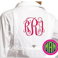 WHITE Women's Columbia Long Sleeve Bonehead PFG Shirt - Monogrammed on Front or Back