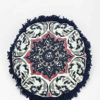 Magical Thinking Medallion Fringe Pillow- Teal One