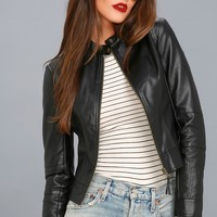 Don't Hold Back Black Vegan Leather Moto Jacket