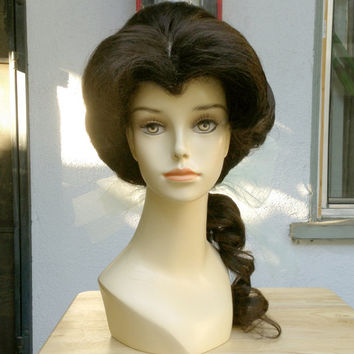 Belle Beauty and the Beast Provincial Town Adult Costume Wig - A True Enchantment Original