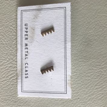 Saw Tooth Studs Earrings