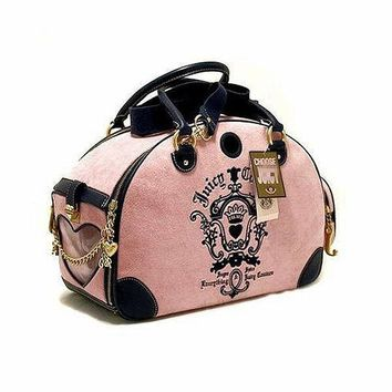Juicy Couture Pet Carrier For Cat or Dog Sling Tote - Designer Luxury Pet Carrier
