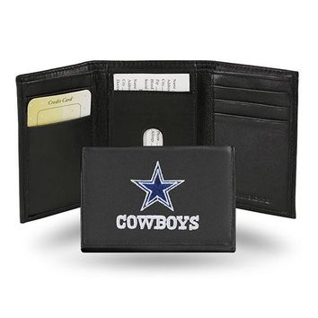 NFL Dallas Cowboys Trifold Leather Wallet FREE SHIPPING!