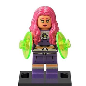 Super Heroes Suicide Squad Starfire Saturn Girl Blue Beetle Raven Bricks Assemble Building Blocks Best Children Gift Toys XH 347