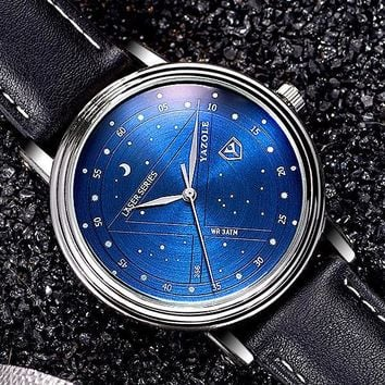 Watch Casual Stylish Men Waterproof Quartz Watch [281920864285]