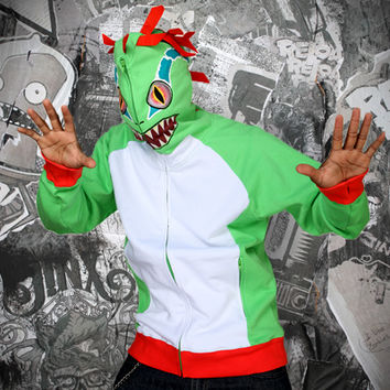 J!NX : World of Warcraft Murloc Zip-Up Hoodie