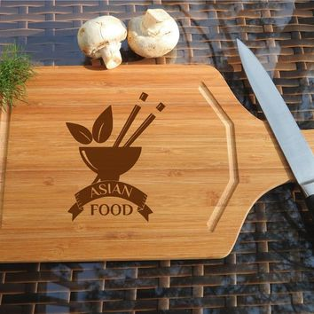 ikb261 Personalized Cutting Board Wood Eastern food Japanese restaurant cuisine