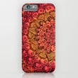 Ruby & Garnet Doodle iPhone & iPod Case by Micklyn