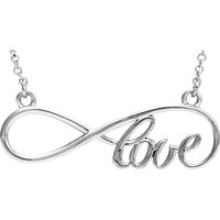 Continuum Sterling Silver Love Infinity Design Necklace