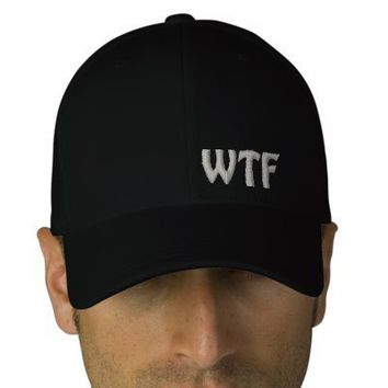 WTF Embroidered Baseball Hat Flexfit Wool Cap Baseball Cap from Zazzle.com