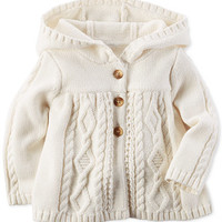 Carter's Baby Girls' Holiday Knit Hoodie