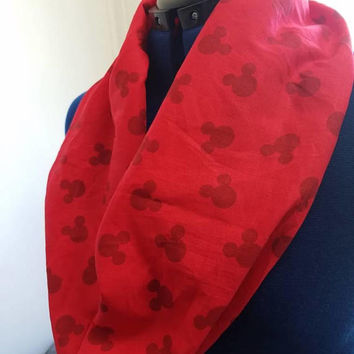Mickey - mouse  - minnie - mouse - disney - posters - silhouette  - retro - print  - single - loop - infinity  - scarf