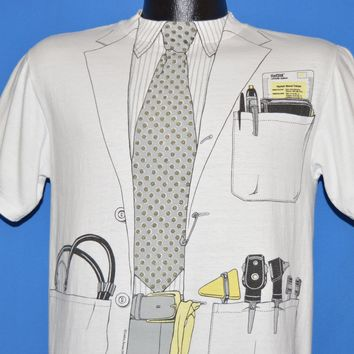 80s Doctors Overcoat Tie Print All Over Funny t-shirt Medium