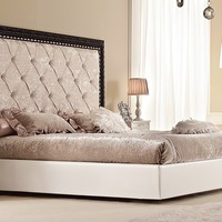 Upholstered fabric double bed GLAMOUR Glamour Collection by Gotha Luxury Italian Style