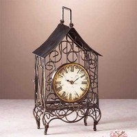 WIRE SCULPTURE CLOCK