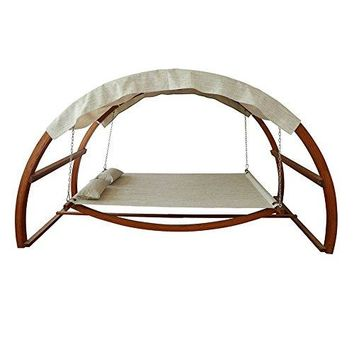 Eclipse Collection Hammock Swing Bed with Canopy (10.5'L x 5.25'W x 5.75'H)