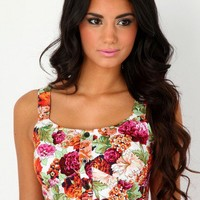 Missguided - Sarika Floral Bralet Top