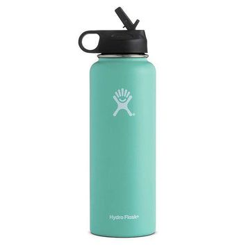 CREYYN3 Hydro Flask 40oz Wide Mouth Insulated Bottle with Straw Lid