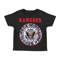 Ramones Boys' Childrens T-shirt Black Rockabilia