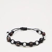 Black Beaded & Knotted Cord Bracelet