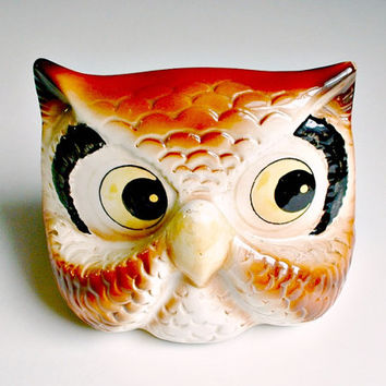 Owl Eyeglass Holder Ceramic Stand Display Holder Vintage CMI Chadwick Japan