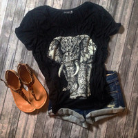 Oversized Elephant Top